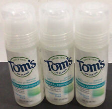3x Tom's of Maine Deodorant Crystal Mineral Confidence Fragrance Free Ex 7/20