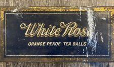 Vintage White Rose Metal Trinket Box