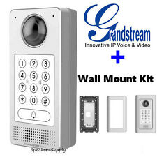 Grandstream Video Door Access Cam Keypad IP + Wall Mount Kit GDS3710 WMK