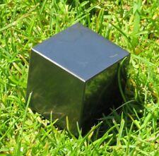 LOVELY SHUNGITE / SHUNGIT  (67.7 grams / 29 mm)  CUBE  (3) RUSSIA