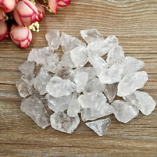 50g  White Crystal Rock Stones Clusters Natural Quartz Healing Point Specimen A
