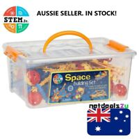 Stem Jr. Space Building Set Toy 160 Pieces in Plastic Storage Case NEW Sealed