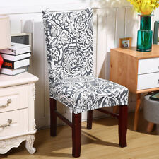 Washable Stretch Elastic Dining Room Wedding Banquet Chair Seat Cover Slipcover Style 1 6 Pcs