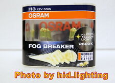 Genuine Osram Fog Breaker H3 2600K headlight bulb light lamp Yellow 12V 55W