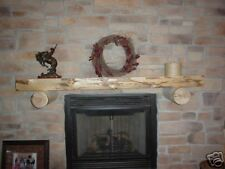 Log slab fireplace mantel, log furniture rustic mantels