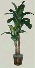 8' BANANA PALM ARTIFICIAL SILK TREE PLANT BASKET ARRANGEMENT FLOWER TOPIARY DATE