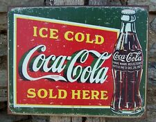 Vintage Antique Style Coca-Cola Sign Retro Ad Basement Home Coke Decor Gift USA