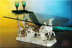 Couchtisch Glastisch Wohnzimmertisch Tisch Ben Hur Sofa-Tisch Antik Wohnzimmer