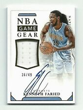 Kenneth Faried 2015-16 National Treasures NBA Game Gear Patch Auto Card 36/49