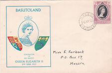 Basutoland 1953 Queen Elizabeth II Coronation FDC Maseru CDS VGC