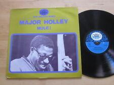 Major Holley - Mule! LP Black and Blue France Import Jazz Vocals Ultrasonic VG++