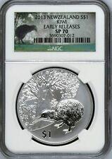 2013 NGC SP 70 New Zealand Kiwi 1oz Silver Coin Bullion kiwi and Tane Mahuta