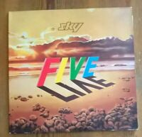 Sky ‎– Sky Five Live 2× Vinyl LP Album Gatefold 33rpm 1983 Ariola ‎– 302 171