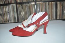 Bisou Bisou Red Strappy Heels Size 8.5M