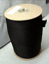 "Black Polyester Twill Weave Binding Tape 1"" Width 144 Yard Roll"