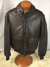 * COOPER * Type A-2 Brown Goatskin Leather Bomber Flight Jacket Coat 42R MINT