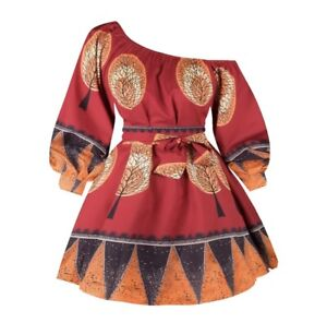 African Women Ethnic Print Dashiki Floral Split Maxi Dress Skirt Crop Top Outfit
