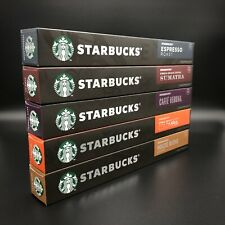 New 50 Capsules Starbucks by Nespresso Coffee Pods Variety Pack