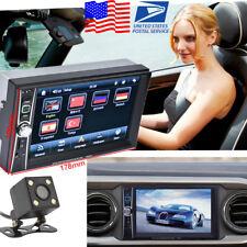 US Stock 6.6inch HD 2-DIN Bluetooth Car MP5 Player USB FM Stereo Radio + Camera