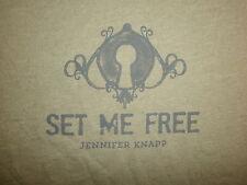 JENNIFER KNAPP SET ME FREE T SHIRT Concert Christian Key Unlock Righteous Babe L