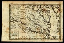Revolutionary War Virginia Seat of Action Chesapeake Bay 1788 Conder map