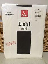 Vintage UK Falke light summer tights dark brown/black? pantyhose one size