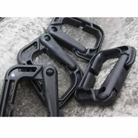 1PC Outdoor D-Molle webbing Plastic Steel backpack Vest Carabiner Buckle Black