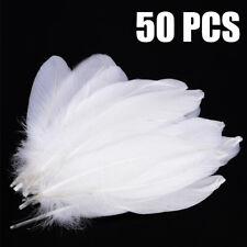 50 Pcs Natural Goose Feather White Party Craft DIY Home Handicraft Decor Suppply