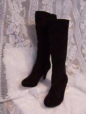 IMPO STRETCH BLACK HIGH HIGH HEEL FASHION BOOTS WOMEN SIZE 6