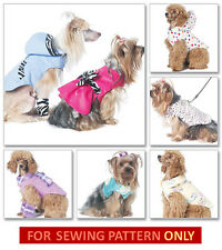 SEWING PATTERN! MAKE DOG COAT~HOODIE~DRESS~LEG WARMERS! SIZE SMALL~X-LARGE!
