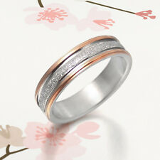 Men Women Rose Gold Platium Wedding Band Titanium Ring 4mm SzG to W 030