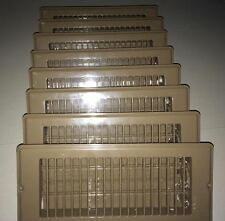 Mobile Home Floor Register 4 x 10 Brown w/ Large Face Plate 8-pack
