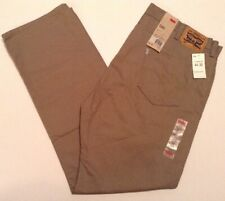 LEVI'S 505 Men's Size 44 X 32 Khaki Tan Jeans Relaxed Fit Straight Leg NWT