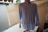 JACQUES BRITT Herren Hemd langarm edel Gr.M 15,5 / 39 gestreift blau weiß TOP#42