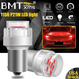 2x 1156 Red Brake StopTail LED Light Canbus Bulbs fot VW Golf Wagon 2010-2014