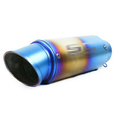 Stainless Steel Motorcycle Modified Exhaust Pipe Muffler Inlet 60mm Universal