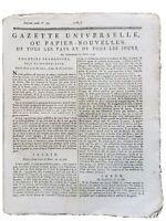 Journal Révolution Française 1792 Robespierre La Morlière Armée du Rhin Haïti
