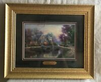 "Thomas Kinkade Lamplight Manor Matted Print 11x14 with COA, Framed, 17.5""x14.5"""