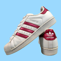 Adidas Superstar Women's Shoes Size Uk 5 White Pink Casual Trainers EUR 38