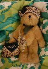 "Boyds the Head Bean Collection Teddy Bear ""Hi! I'm Diva & I'm a Genuine Boyds!"""