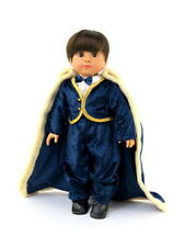 """Blue Little Prince 4pc Pant Set Fits 18"""" American Boy or Girl Doll Clothes"""