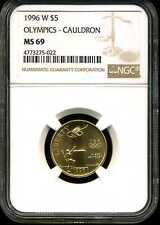 1996-W $5 Olympics Cauldron Gold Commemorative MS69 NGC 4773275-022
