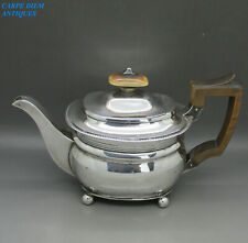 ANTIQUE GEORGIAN NICE HEAVY SOLID SILVER BACHELORS TEAPOT 388g R.H LONDON 1810
