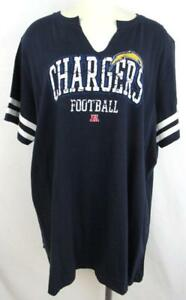 Los Angeles Chargers Womens Plus Size 1X 3X or 4X Split V-Neck T-Shirt ACHG 40