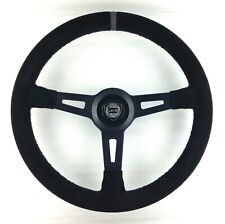 Genuine Momo Lancia steering wheel re-trimmed Alcantara. Delta Integrale etc 7B