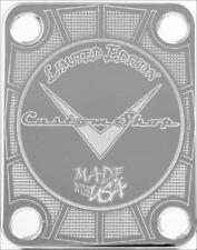 NECK PLATE - Custom Shop - Limited Edition - USA - chrome - guitare et basse