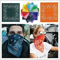 12pcs 100% Cotton 22x22 inch Bandana Scarf Handkerchiefs Headband Headwrap