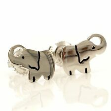 Humble Bee Boutique Girls .925 Sterling Silver Screwback Elephant Stud Earrings