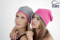 ATLANTIS cappellino EXTREME Misto Cotone in 9 colori CUFFIA reversibile BEANIE $