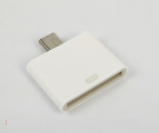 Micro USB Male to 30Pin 30P Female Docking Adapter For Samsung S4 S3 S2 White